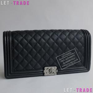 ab20efad1a15 Chanel classic le boy elan caviar clutch (black) phw new